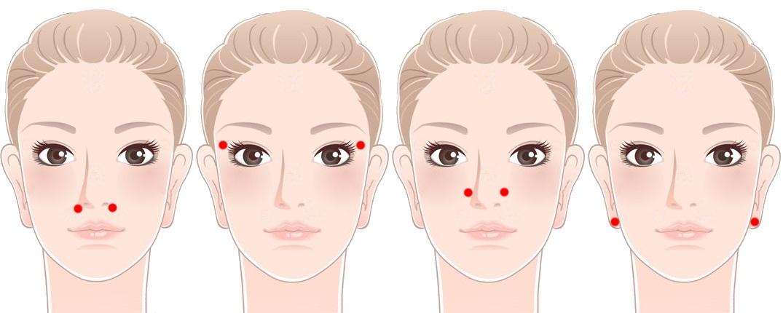 Точки массажа носа от заложенности