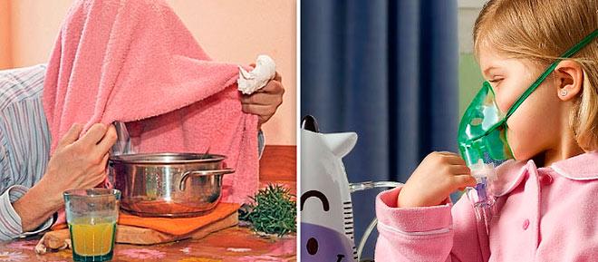 Ингаляцию от насморка в домашних условиях