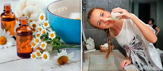 промывание носа раствором ромашки