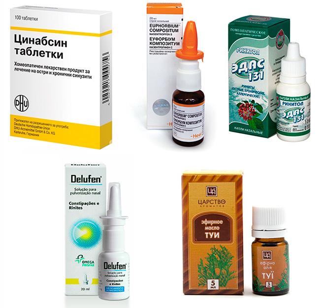 Детские гомеопатические препараты против насморка