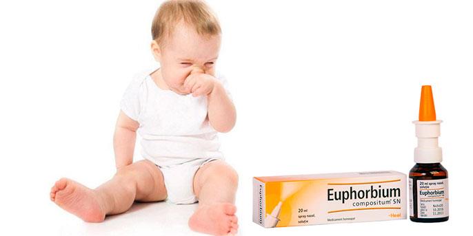 Эуфорбиум Композитум, является отличным гомеопатическим средством для детей до года