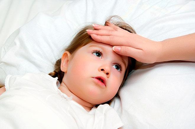 При заложенности носа у ребенка часто поднимается температура
